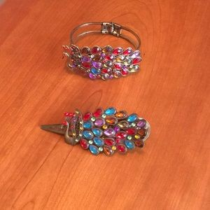 Jewelry - Bracelet and hair clip set